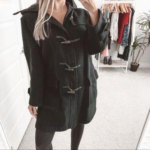 Burberry Toggle Front Mini Duffle Coat Black